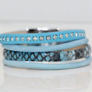 Gorgeous Caribean Blue Fresh Style Bracelet